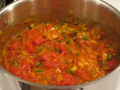 Stir in Chillies & Tomatoes